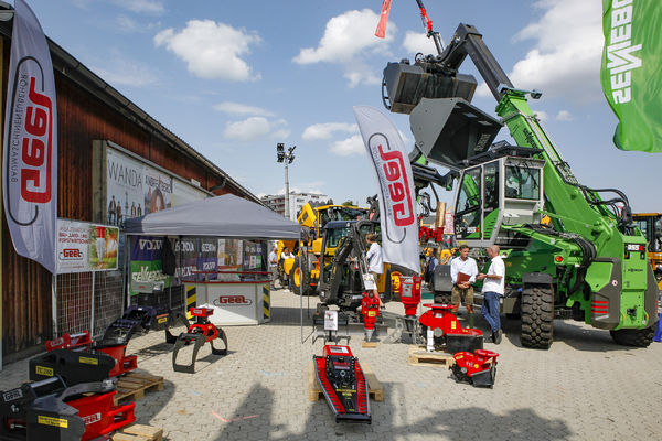 At the wood fair in Klagenfurt, Austria